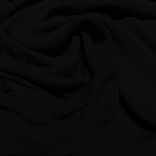 Black crepe silk georgette fabric