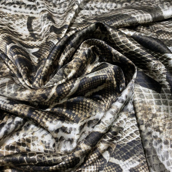 Python print stretch silk satin fabric