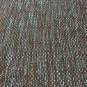 Tissu tissé et irisé effet tweed turquoise