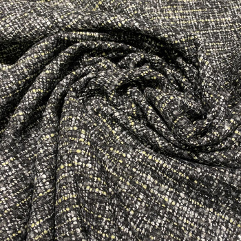 Woven and iridescent tweed fabric