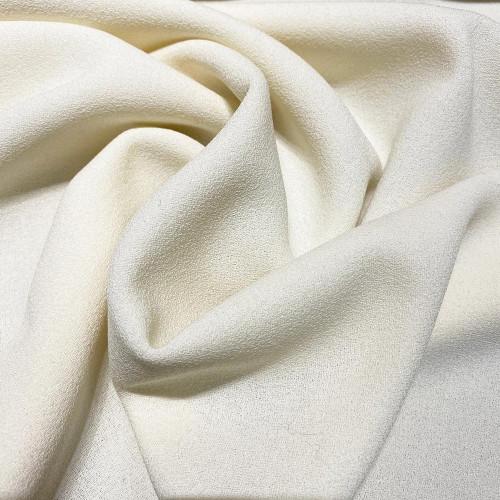 Tissu crêpe de laine 100% laine ivoire