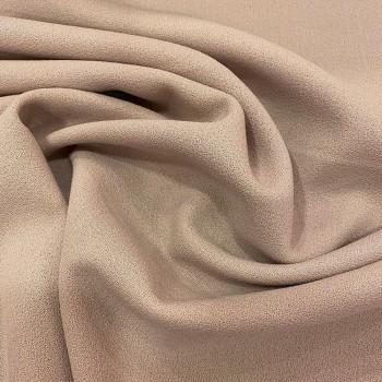 Tissu crêpe de laine 100% laine nude
