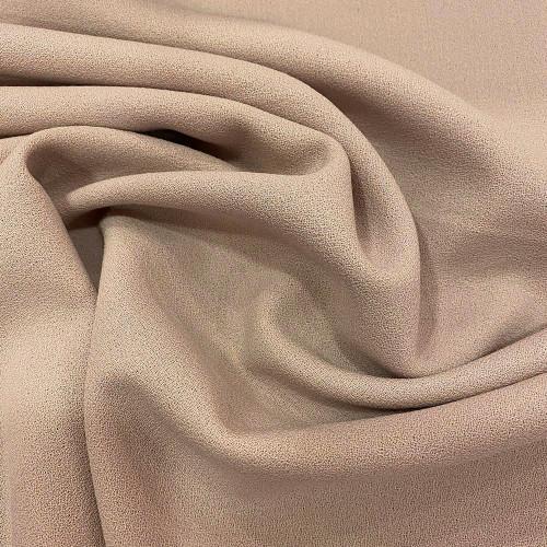 Nude wool crepe fabric 100% wool