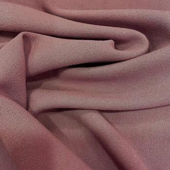 Tissu crêpe de laine 100% laine bois de rose