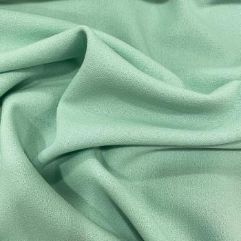 Jade green crepe 100% wool fabric