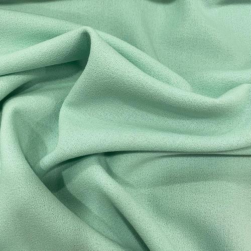 Tissu crêpe de laine 100% laine vert jade