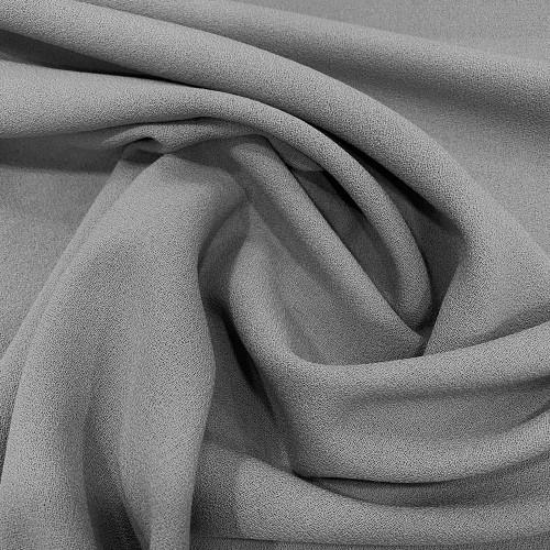 Tissu crêpe de laine 100% laine gris