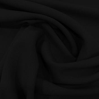 Black wool crepe fabric 100% wool
