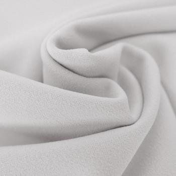 Tissu crêpe scuba blanc