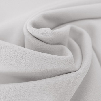White scuba crepe fabric