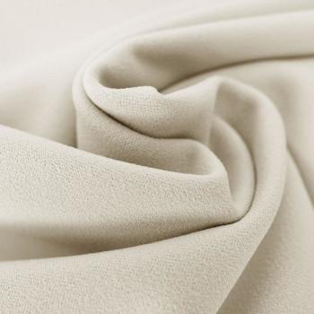 Tissu crêpe scuba ivoire