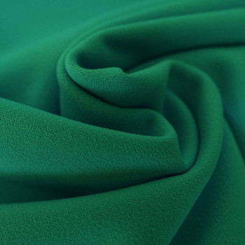 Emerald green scuba crepe fabric