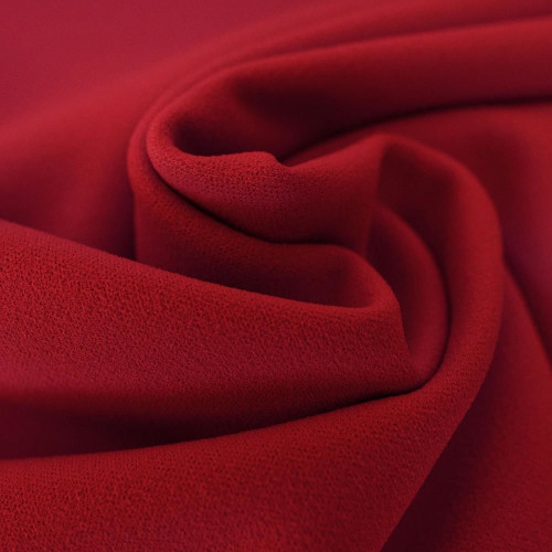 Tissu crêpe scuba rouge grenat