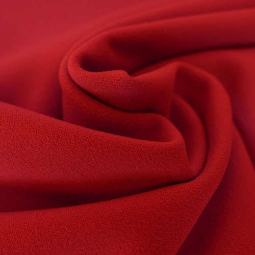Red scuba crepe fabric