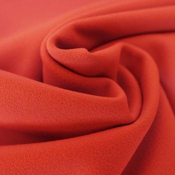 Coral scuba crepe fabric