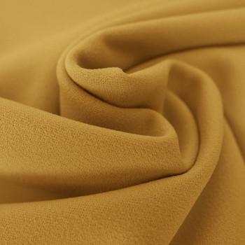 Mustard yellow scuba crepe fabric