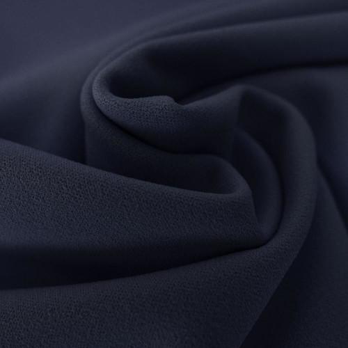 Tissu crêpe scuba bleu marine