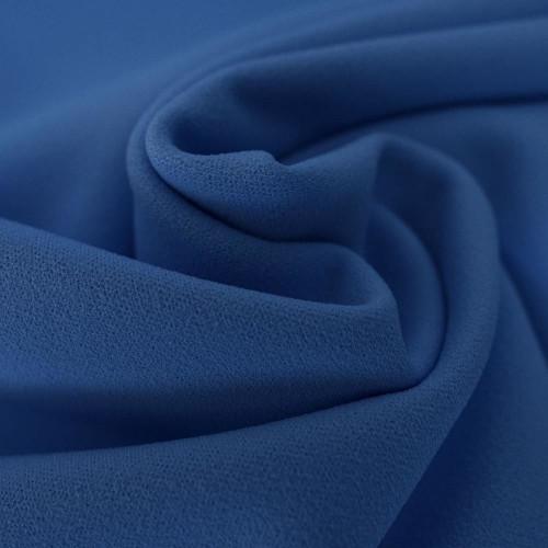 Tissu crêpe scuba bleu indigo