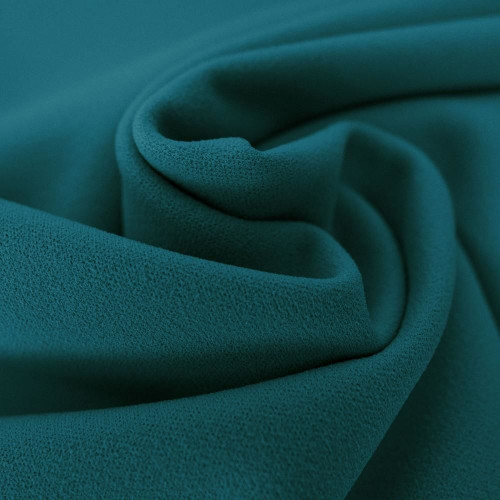 Tissu crêpe scuba bleu turquoise