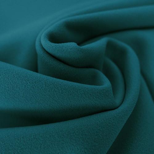 Turquoise blue scuba crepe fabric