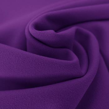 Tissu crêpe scuba violet