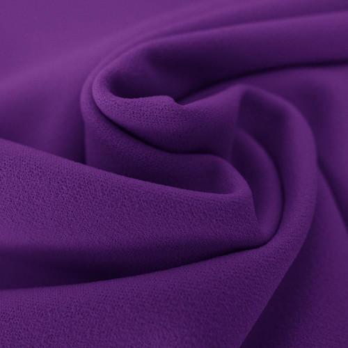Purple scuba crepe fabric