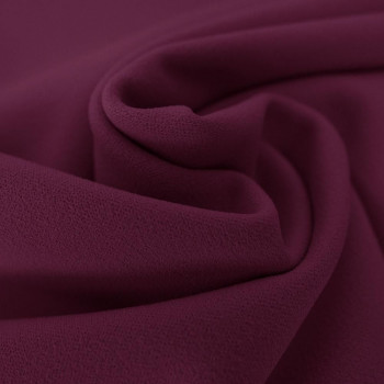 Tissu crêpe scuba violet aubergine