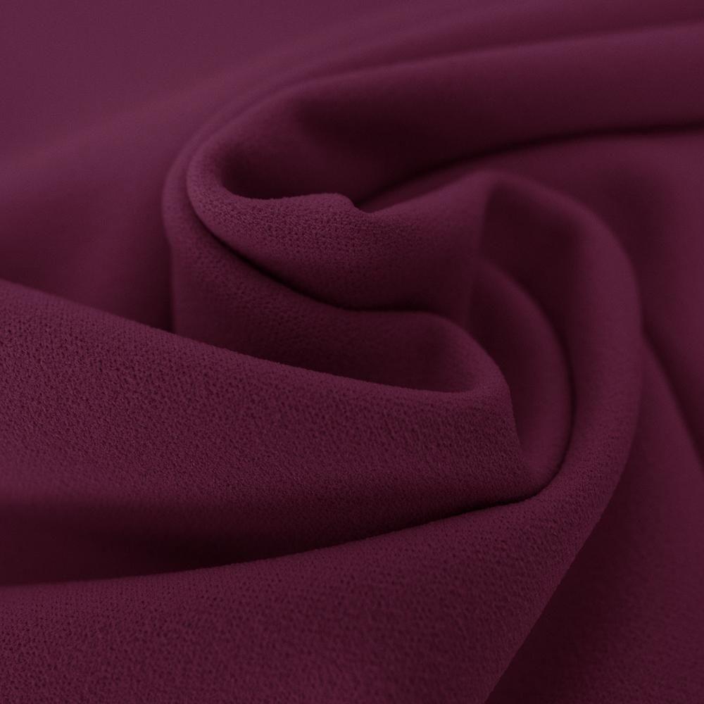 Eggplant purple scuba crepe fabric — Tissus en Ligne
