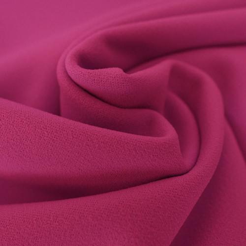 Pink scuba crepe fabric