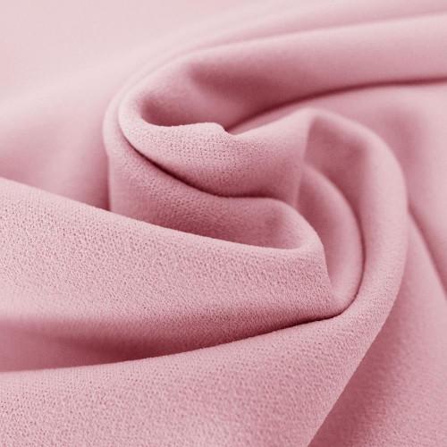 Pastel pink scuba crepe fabric