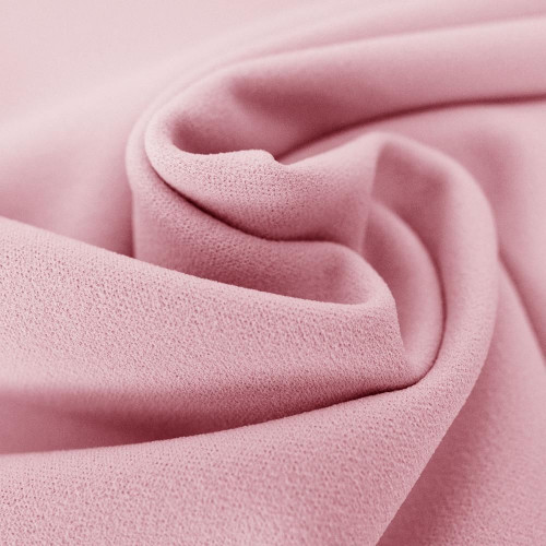 Tissu crêpe scuba rose pastel