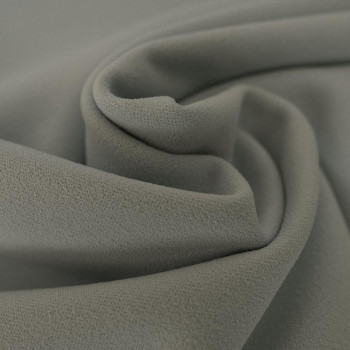 Grey scuba crepe fabric