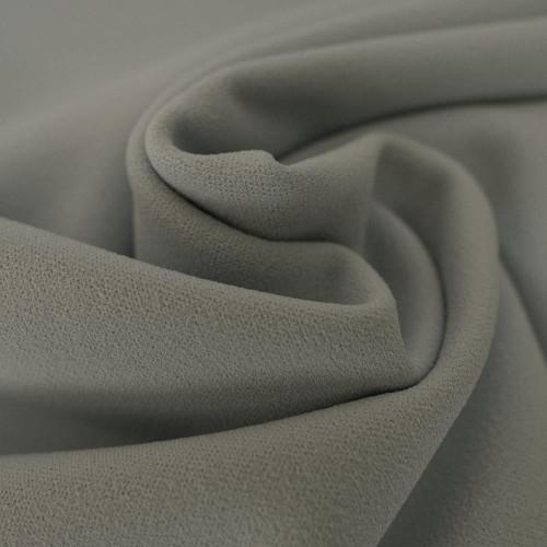 Grey scuba crepe fabric