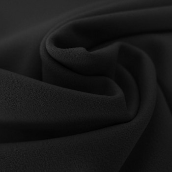 Black scuba crepe fabric