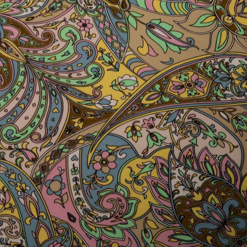Paisley print scuba crepe fabric