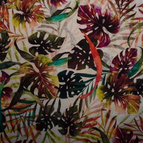 Tropical digital print cotton fabric