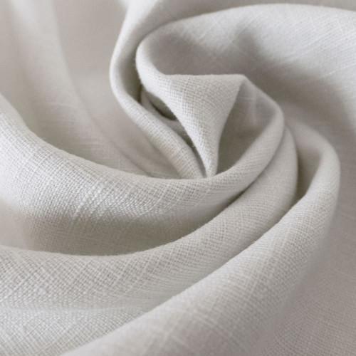 Pure white 100% linen fabric