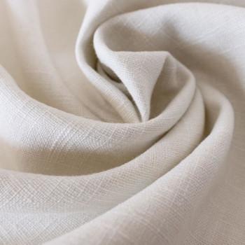 Tissu 100% pur lin ivoire