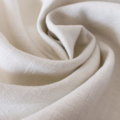 Ivory 100% linen fabric