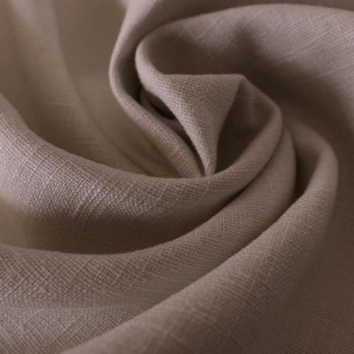 Beige 100% linen fabric