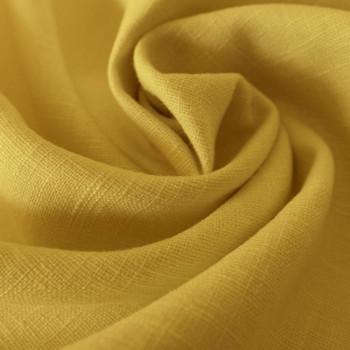 Tissu 100% pur lin jaune