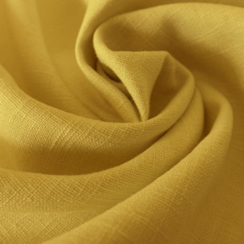 Yellow 100% linen fabric