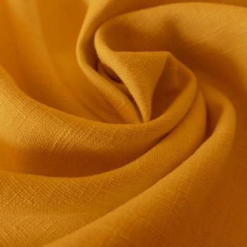 Orange 100% linen fabric