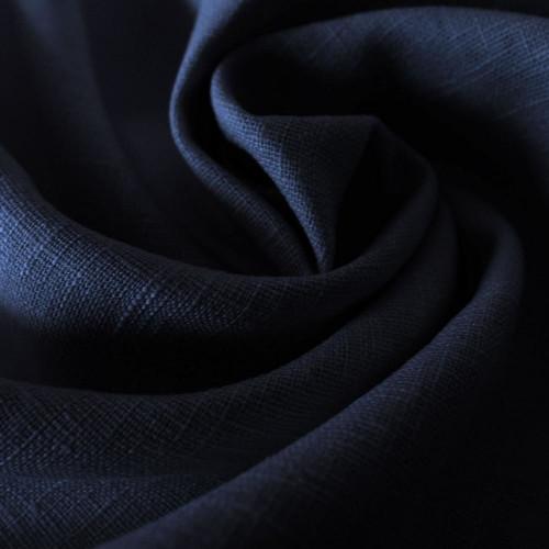Tissu 100% pur lin bleu marine