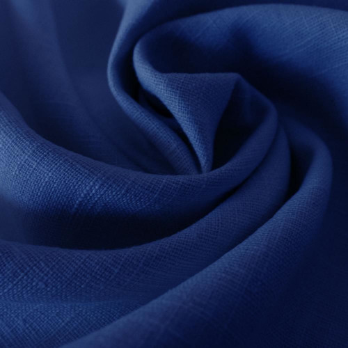 Royal blue 100% linen fabric