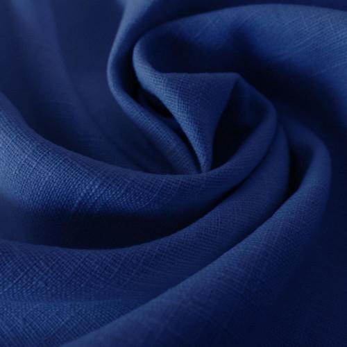 Tissu 100% pur lin bleu royal