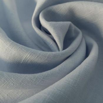 Tissu 100% pur lin bleu ciel