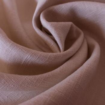 Pink 100% linen fabric