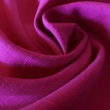Fuschia 100% linen fabric