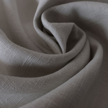 Grey 100% linen fabric